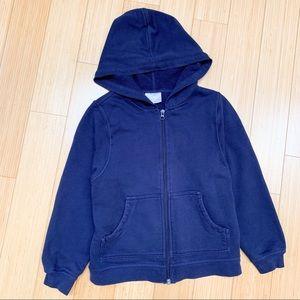 HANNA ANDERSSON navy hoodie sweatshirt, 130 sz 8.